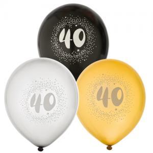 Ballonger 6-pack 40 år