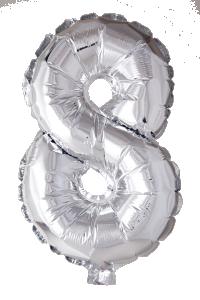 Folieballong 41 cm siffra 8