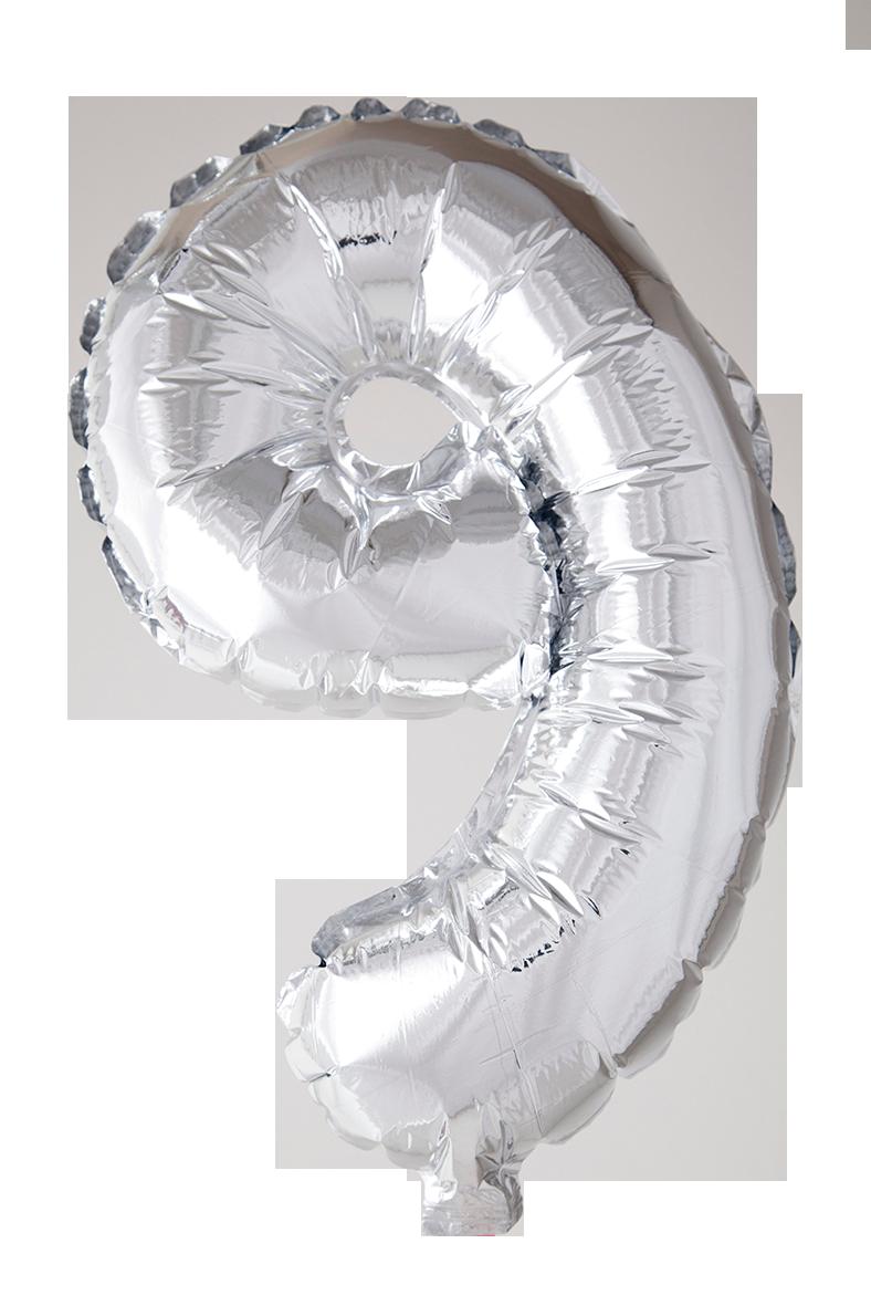 Folieballong 102 cm siffra 9