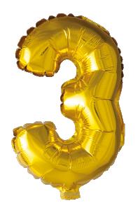 Folieballong 41 cm siffra 3