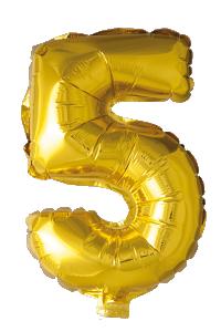 Folieballong 41 cm siffra 5
