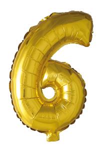 Folieballong 41 cm siffra 6