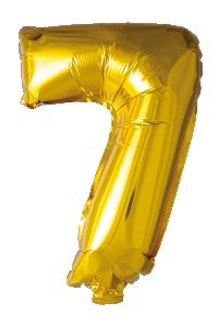 Folieballong 41 cm siffra 7