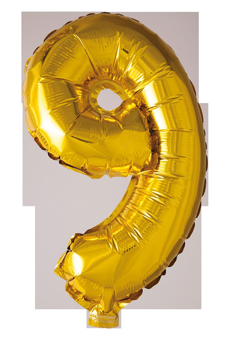 Folieballong 41 cm siffra 9
