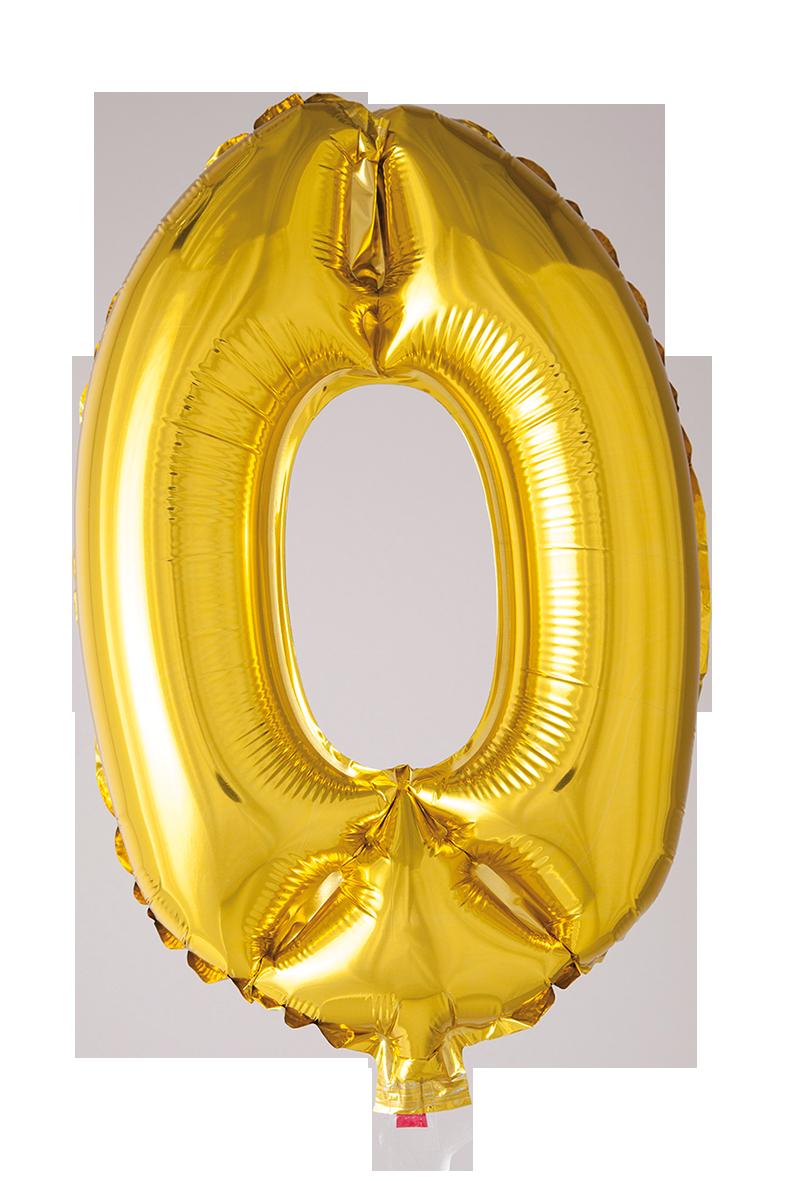Folieballong102 cm siffra 0