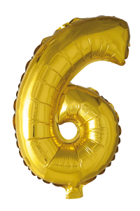 Folieballong102 cm siffra 6