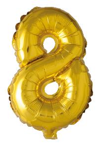 Folieballong102 cm siffra 8