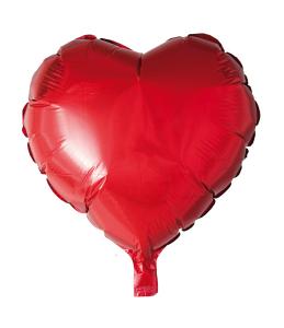 Folieballong Hjärta röd