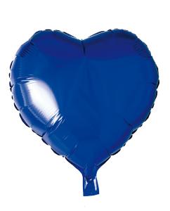 Folieballong Hjärta blå
