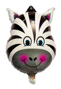 Folieballong Zebra