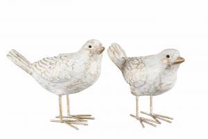 Fågel vit/guld