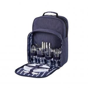 Picknick ryggsäck med tillbehör 4 personer