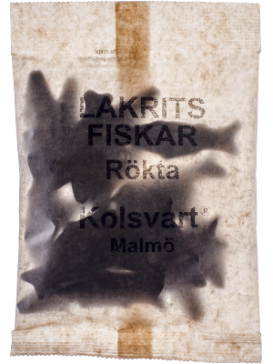 Kolsvart Rökta fiskar