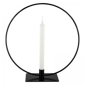 Ljusstake svart rund