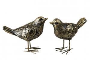 Fågel brun/guld
