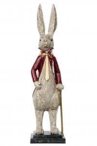 Kaninherre lång röd