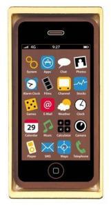 Chokladfigur smartphone