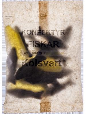 Kolsvart Söt lakrits & Sur Citron