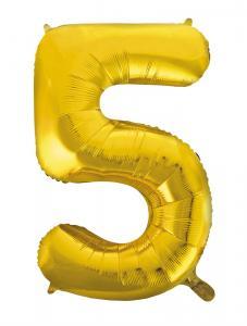 Folieballong 86 cm siffra 5