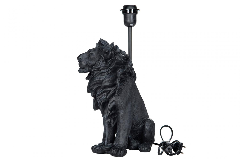 Lampa Lejon svart