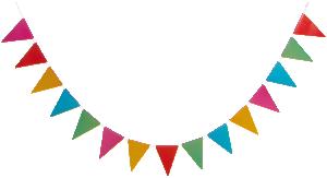 Flaggspel mixade färger