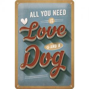 Skylt Love Dog