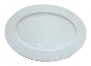 Uppläggningsfat Etrusk oval vit