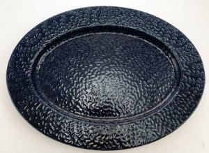 Uppläggningsfat Etrus blå oval