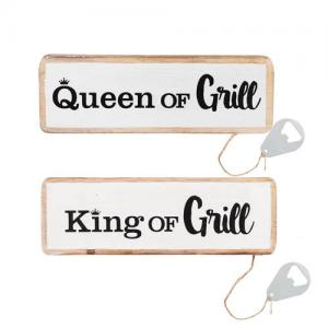 Skylt Queen/King of grill