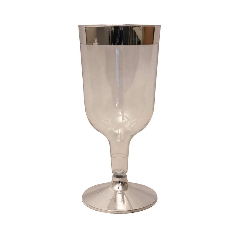 Deserve vinglas silverkant