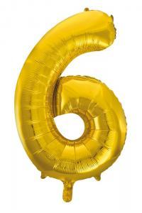 Folieballong 86 cm siffra 6
