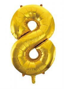 Folieballong 86 cm siffra 8