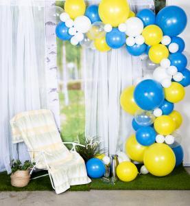 Balloon arch kit - ballongbåge gul/blå