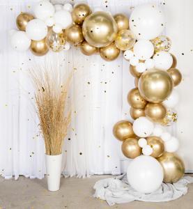 Balloon arch kit - ballongbåge guld/krom