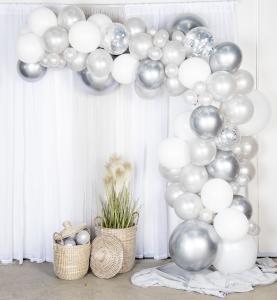 Balloon arch kit - ballongbåge silver/krom