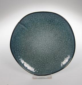 Assiette blue pearl