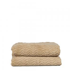 Agnes fleecepläd beige
