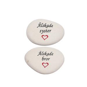 Sten med text syster/bror