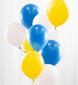 Ballongbukett gul/blå