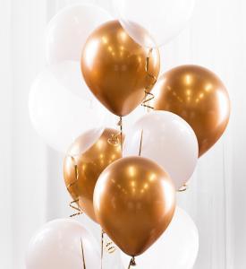 Ballongbukett guld/krom