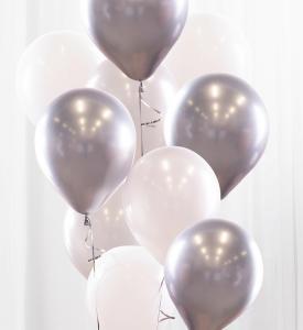 Ballongbukett silver/krom