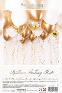 Balloon ceiling kit - ballonghav guld/krom