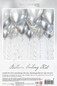 Balloon ceiling kit - ballonghav silver/krom
