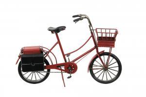 Cykel röd metall