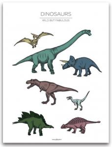 Poster 30x40 Dinosaurs