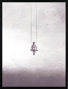 Poster 30x40 pink sky swing