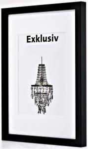 Exklusiv svart 50x50
