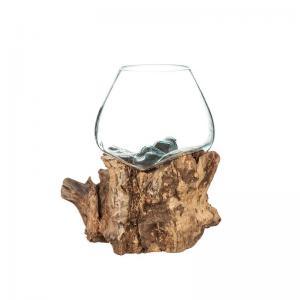 Glasskål på trädrot XL