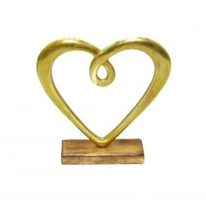 Hedy hjärta stort guld