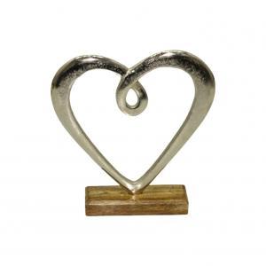 Hedy hjärta stort silver